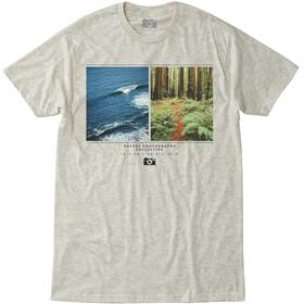 Hippy Tree Ratio T-shirt Heren, heather natural
